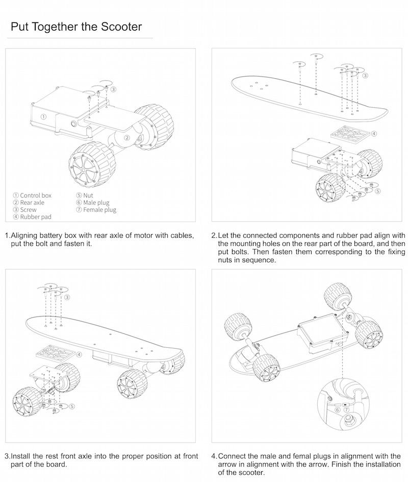 Electric Skateboard M3 Assembly Instructions